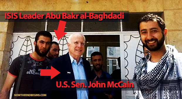 In May of 2013, John McCain took a secret trip to Syria to discuss giving arms and support to Syrian rebels. On 29 June 2014, ISIS announced the establishment of a caliphate, al-Baghdadi was named its caliph, to be known as Caliph Ibrahim, and the Islamic State of Iraq and the Levant was renamed the Islamic State (IS)