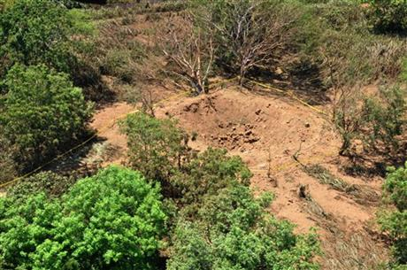 """9-7-2014: MANAGUA, Nicaragua (AP) — Nicaragua's government said Sunday that a mysterious boom heard overnight in the capital was made by a small meteorite that left a crater in a wooded area near Managua's airport. Government spokeswoman Rosario Murillo said a committee formed by the government to study the event determined it was a """"relatively small"""" meteorite that """"appears to have come off an asteroid that was passing close to Earth."""" Murillo said Nicaragua will ask international experts to help local scientists in understanding what happened. The crater left by the meteorite had a radius of 12 meters (39 feet) and a depth of 5 meters (16 feet), said Humberto Saballos, a volcanologist with the Nicaraguan Institute of Territorial Studies who was on the committee. He said it is still not clear if the meteorite disintegrated or was buried. Humberto Garcia, of the Astronomy Center at the National Autonomous University of Nicaragua, said the meteorite could be related to an asteroid that was forecast to pass by the planet Saturday night."""