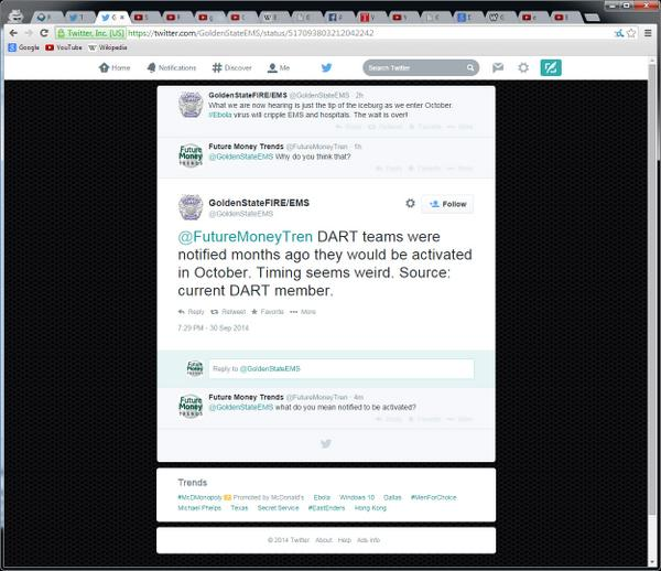 10-4-2014: This is VERY interesting. Dahboo77 had just made a video about this and when I went to their Twitter account it has been deleted after their tweet, but their Facebook page is still active. @GoldenStateEMS - Gone!! Golden State FIRE EMS Facebook: https://www.facebook.com/goldenstatefireems?ref=br_tf Website: http://www.goldenstatefireems.com/