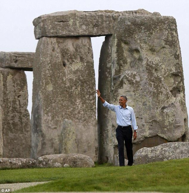 "9-5-2014: Keys to Cosmic Doorways -   I have Chills!!! It is one of the world's most famous ancient sites. And tonight it seemed Barack Obama could not resist a chance to see Stonehenge for himself - ordering his helicopter to make an unscheduled stop on his return home from the Nato summit. Mr Obama later said he had wanted to: 'knock Stonehenge off my bucket list'. Did he say, ""Bucket List""? So he skipped the Ice Bucket and did NATO and STONEHENGE instead!! Something big is comin. I think everybody knows it too. You can feel it, Can't you? Here in this picture we see our President walk through one of the Greatest Cosmic Doorways in the world- Stonehenge!!! A303 = 1-""33"" Was America just Baptized with the Ice Bucket challenge? Did Obama just take part in an ancient Global Ritual?"