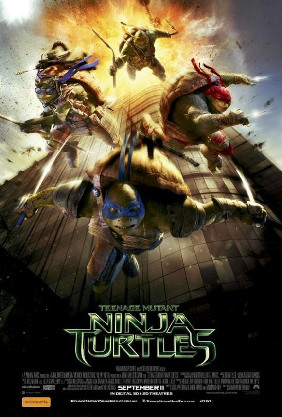VC: This Ninja Turtles poster disturbed some people. The release date on the poster is September 11 and the poster features the Turtles jumping out of a building on fire the same way some poor souls  jumped out of the WTC to their death on September 11th 2001. Was this a coincidence or another sick way the industry celebrated the biggest mega-ritual in History?
