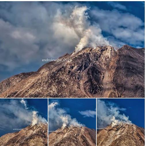 1-17-2015: Sinabung Peak. credit: Mbah Lëwå