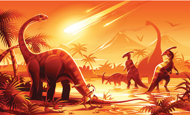 New research has cast doubt on the theory that dinosaurs became extinct 65 million years ago after an asteroid caused a global firestorm. Instead, scientists think that freezing temperatures prompted by blocked-off sunlight wiped the giant reptiles out.