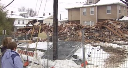 WILSON, Pa. -  Northampton County home that sustained heavy damage after a sinkhole opened has been demolished. On Saturday, construction crews razed the home in the 2400 block of Freemansburg Avenue in Wilson Borough. The home became unstable after a sinkhole or multiple sinkholes opened beneath it.