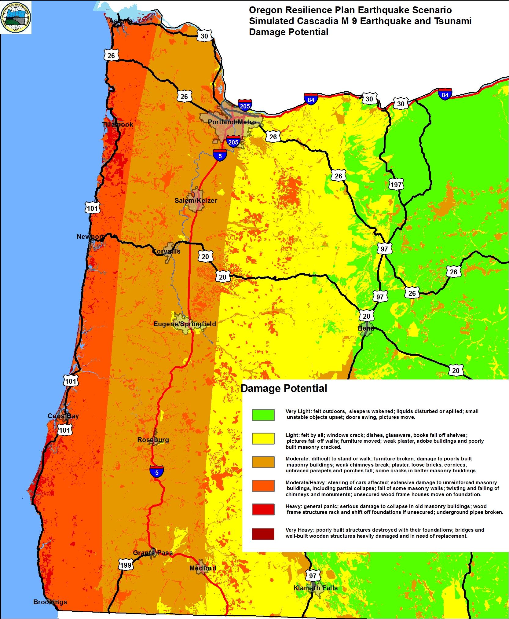 Cascadia Subduction Zone Tsunami Map Cascadia Subduction Zone Earthquakes, Info, & Tsunami Awareness  Cascadia Subduction Zone Tsunami Map